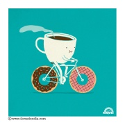 Coffee and Donuts on Bike